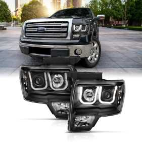 Projector Headlight Set w/U-Bar Switchback