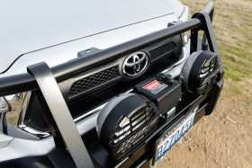 Front Deluxe Bull Bar Winch Mount Bumper
