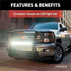 Gladiator ARIES P1053 Pro Series Steel Grill Guard Textured Black Powder Coat Select Jeep Wrangler JL