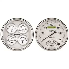 Old Tyme White II™ Quad Gauge/Tach/Speedo Kit
