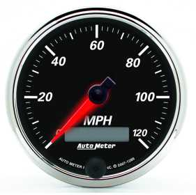 Designer Black II™ Electric Programmable Speedometer