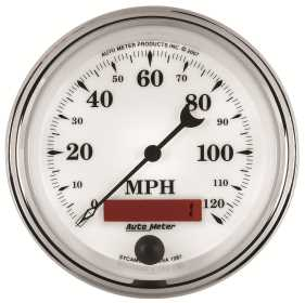 Old Tyme White II™ In-Dash Electric Speedometer