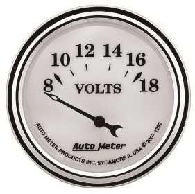 Old Tyme White II™ Voltmeter Gauge