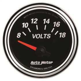 Designer Black II™ Voltmeter Gauge