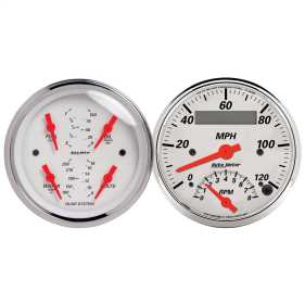 Arctic White™ Quad Gauge/Tach/Speedo Kit