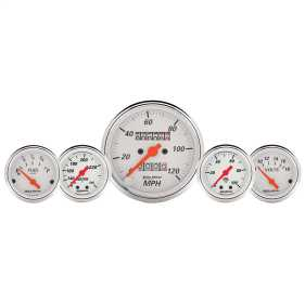 Arctic White™ 5 Gauge Set Fuel/Oil/Speedo/Volt/Water