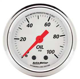 Arctic White™ Mechanical Oil Pressure Gauge