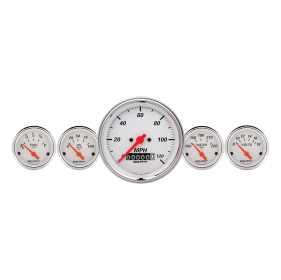 Arctic White™ 5 Gauge Set Fuel/Oil/Speedo/Volt/Water 1340