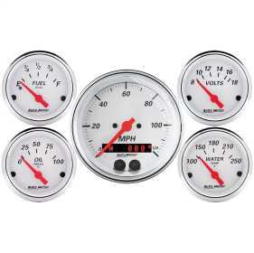 Arctic White™ 5 Gauge Set Fuel/Oil/Speedo/Volt/Water 1350