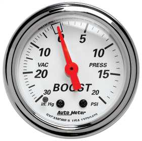 Arctic White™ Mechanical Boost/Vacuum Gauge