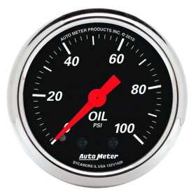 Designer Black™ Mechanical Oil Pressure Gauge