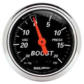 Designer Black™ Mechanical Boost/Vacuum Gauge