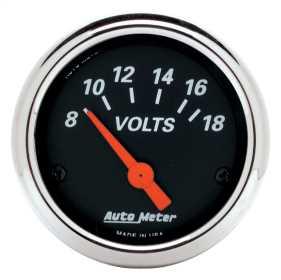 Designer Black™ Voltmeter Gauge