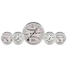 Old Tyme White™ 5 Gauge Set Fuel/Oil/Speedo/Volt/Water