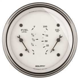 Old Tyme White™ Oil/Fuel Dual Gauge