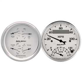 Old Tyme White™ Quad Gauge/Tach/Speedo Kit