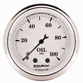 Old Tyme White™ Mechanical Oil Pressure Gauge