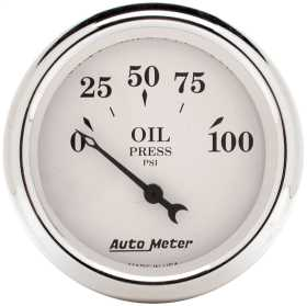 Old Tyme White™ Electric Oil Pressure Gauge