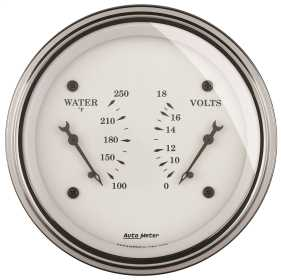 Old Tyme White™ Water/Volt Dual Gauge