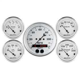 Old Tyme White™ 5 Gauge Set Fuel/Oil/Speedo/Volt/Water 1650