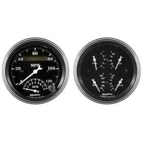 Old Tyme Black™ Quad/Tach/Speedo Kit