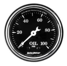 Old Tyme Black™ Mechanical Oil Pressure Gauge