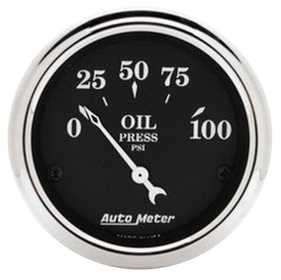 Old Tyme Black™ Oil Pressure Gauge