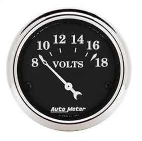 Old Tyme Black™ Voltmeter Gauge