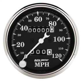 Old Tyme Black™ Mechanical Speedometer