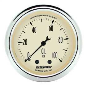 Antique Beige™ Mechanical Oil Pressure Gauge