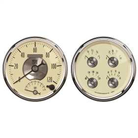 Prestige Series™ Antique Ivory Quad Gauge/Tach/Speedo Kit