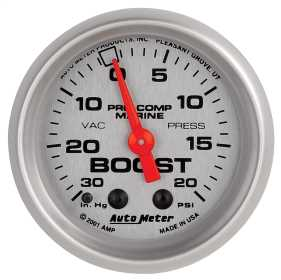 Marine Mechanical Vacuum/Boost Gauge