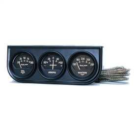 Autogage® Black Oil/Amp/Water Black Console