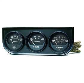 Autogage® Black Oil/Volt/Water Black Console