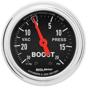 Traditional Chrome™ Mechanical Boost/Vacuum Gauge