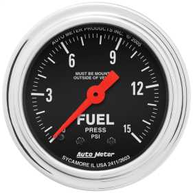 Traditional Chrome™ Mechanical Fuel Pressure Gauge