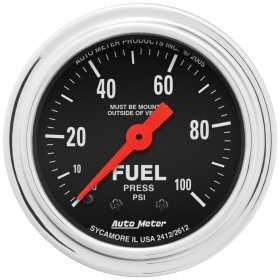 Traditional Chrome™ Mechanical Fuel Pressure Gauge 2412