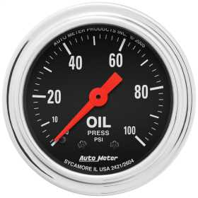 Traditional Chrome™ Mechanical Oil Pressure Gauge