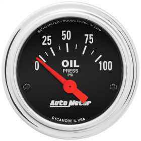 Traditional Chrome™ Electric Oil Pressure Gauge