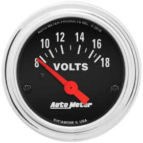 Traditional Chrome™ Electric Voltmeter Gauge