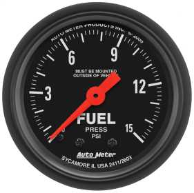 Z-Series™ Mechanical Fuel Pressure Gauge