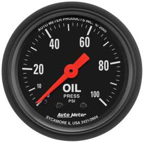 Z-Series™ Mechanical Oil Pressure Gauge