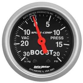 Sport-Comp™ Mechanical Boost/Vacuum Gauge