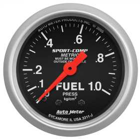 Sport-Comp™ Mechanical Metric Fuel Pressure Gauge