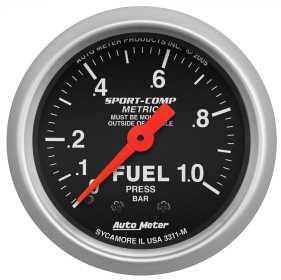 Sport-Comp™ Mechanical Fuel Pressure Gauge 3311-M