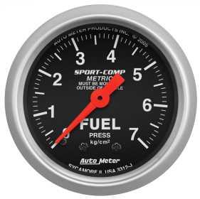 Sport-Comp™ Mechanical Metric Fuel Pressure Gauge 3312-J