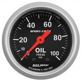 Sport-Comp™ Mechanical Oil Pressure Gauge