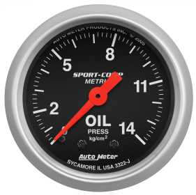 Sport-Comp™ Mechanical Metric Oil Pressure Gauge