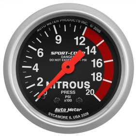 Sport-Comp™ Mechanical Nitrous Pressure Gauge