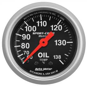 Sport-Comp™ Mechanical Metric Oil Temperature Gauge